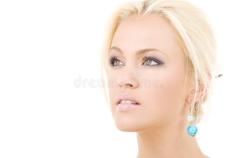 Blonde precioso foto de archivo