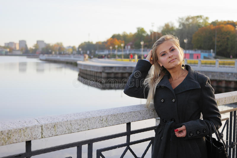 Download Blonde on quay stock photo. Image of woman, beautiful - 17368988