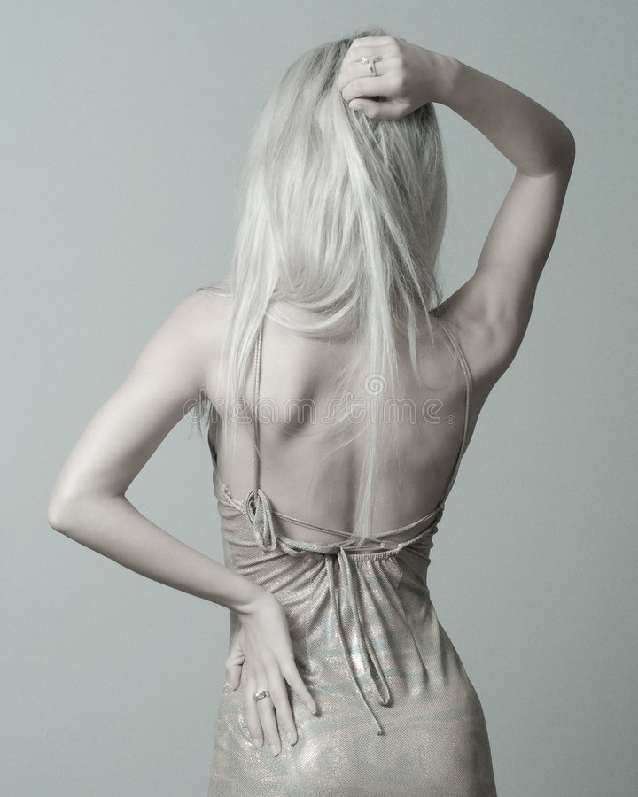 Blonde Rückseite stockfotografie