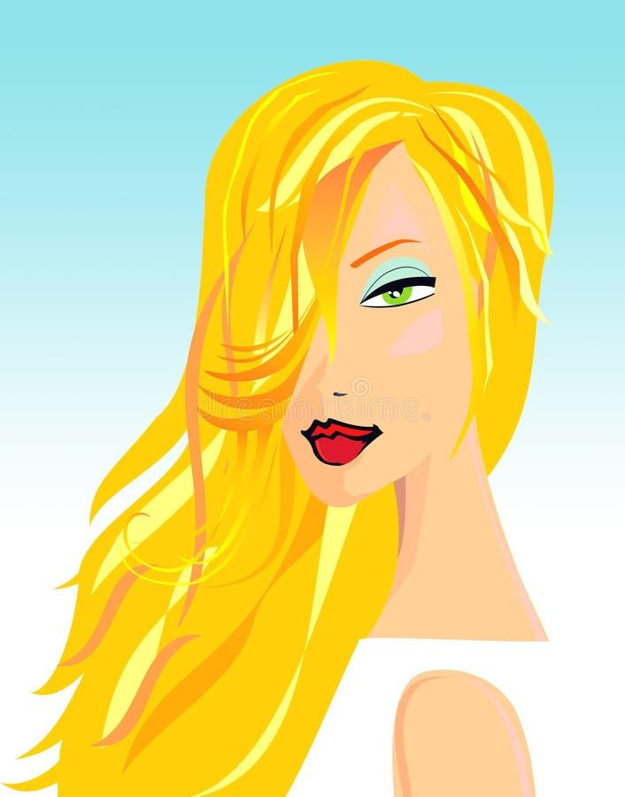 Blonde Schönheit stock abbildung