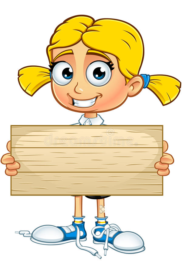 Cartoon Characters Yellow Hair : Blonde school girl character stock vector image
