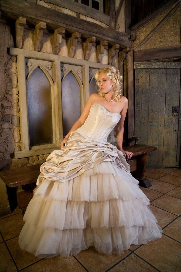 Blonde schoonheid royalty-vrije stock fotografie