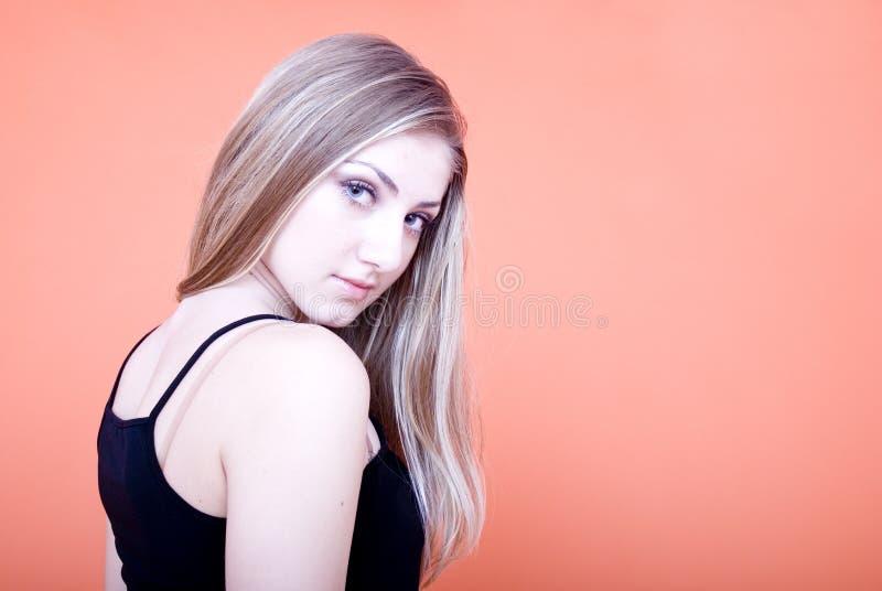 Blonde sensuous woman royalty free stock images