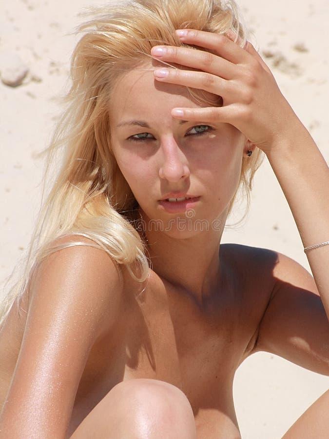 Blonde sexual fotografia de stock royalty free