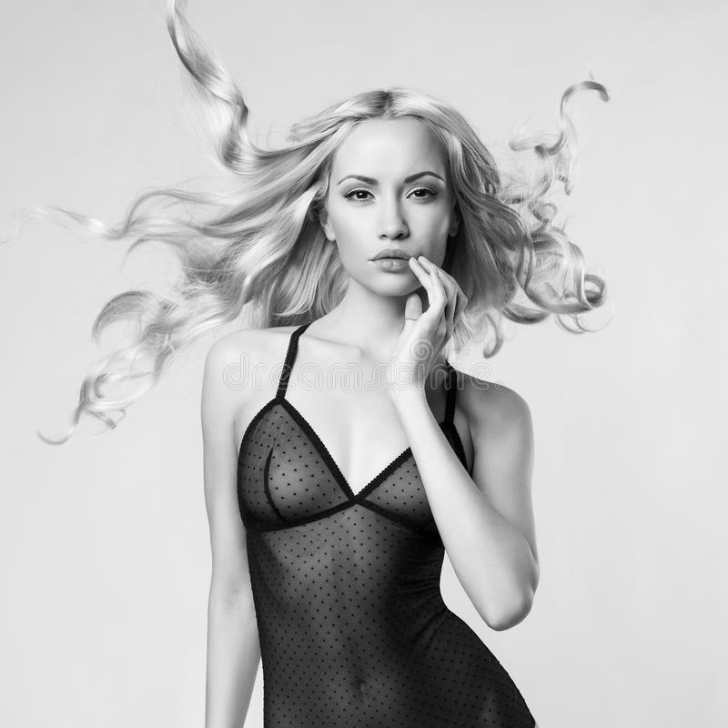 Blonde sexy photo stock