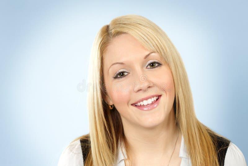 Blonde sonriente feliz fotos de archivo
