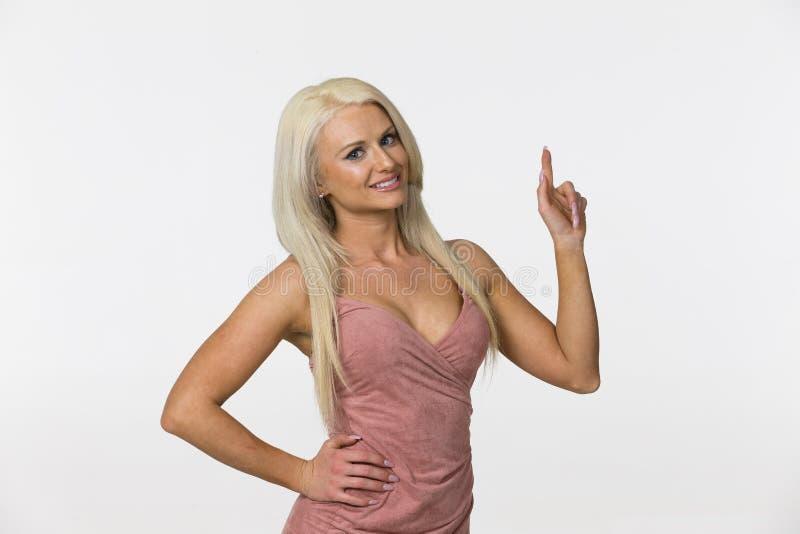 Blonde Studio Model royalty free stock photography