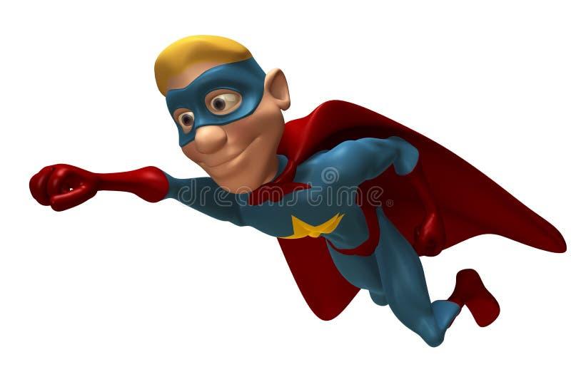 Blonde superhero royalty-vrije illustratie