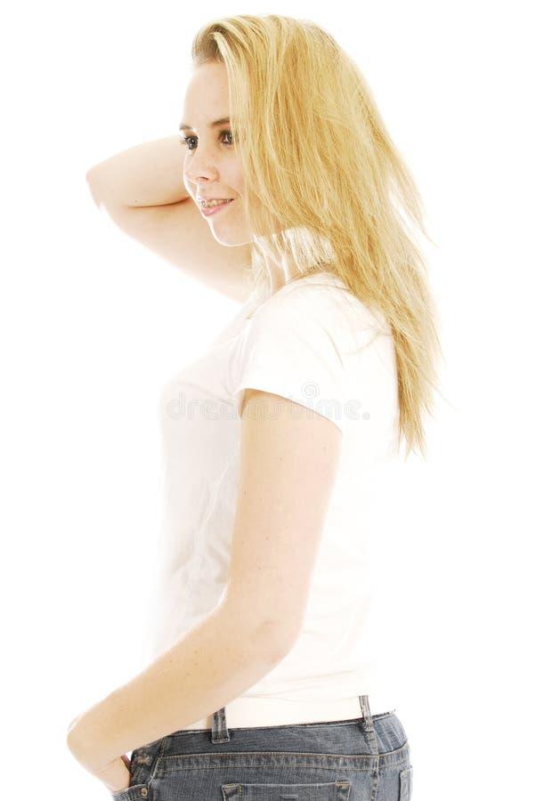 Blonde Teen Woman Stock Photography