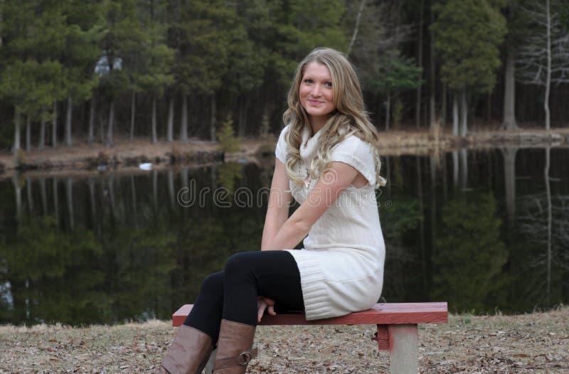 Blonde Tiener royalty-vrije stock fotografie