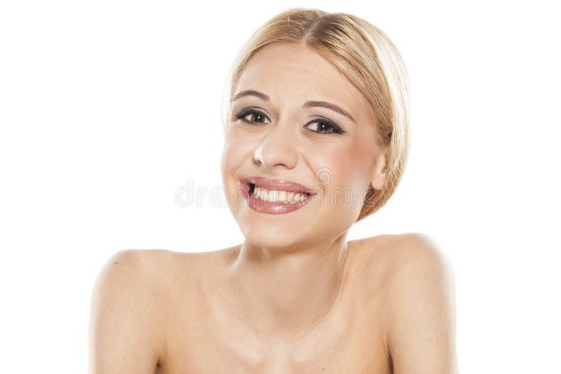 Blonde triste imagen de archivo