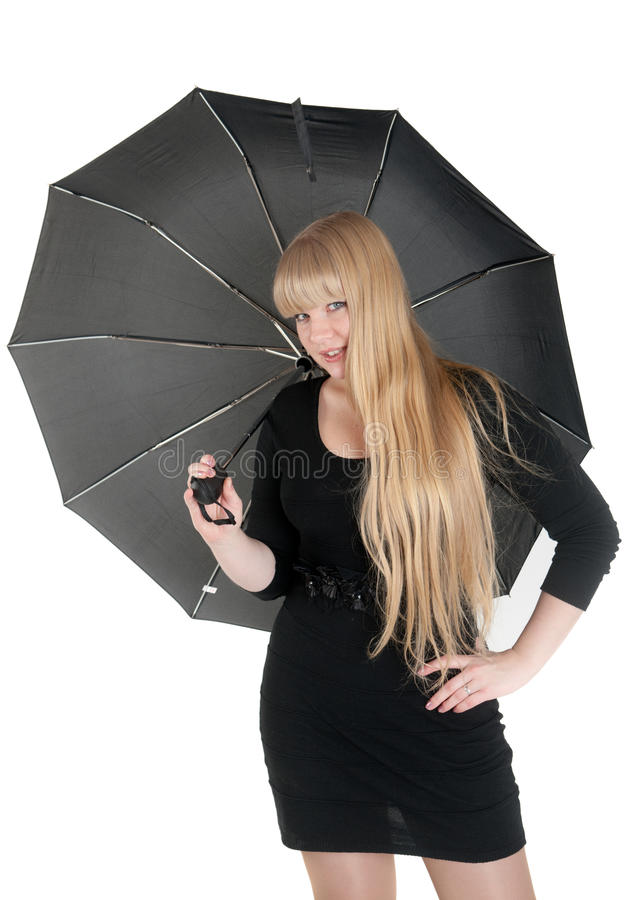 Blonde With An Umbrella Royalty Free Stock Images