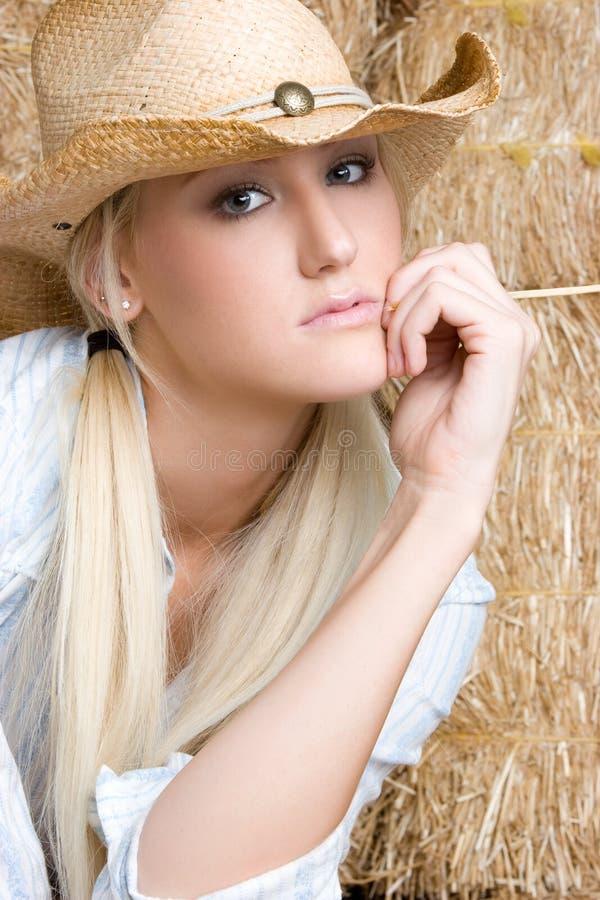 Blonde Veedrijfster royalty-vrije stock foto's