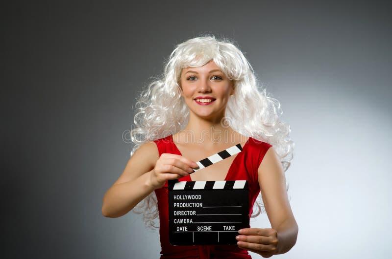 Blonde vrouw royalty-vrije stock foto's