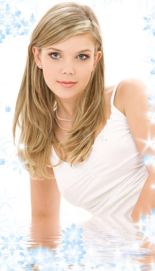 Download Blonde In White Cotton Underwear Stock Image - Image: 7278689