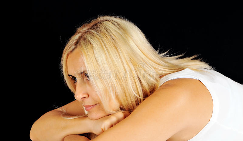 Blonde woman stock images