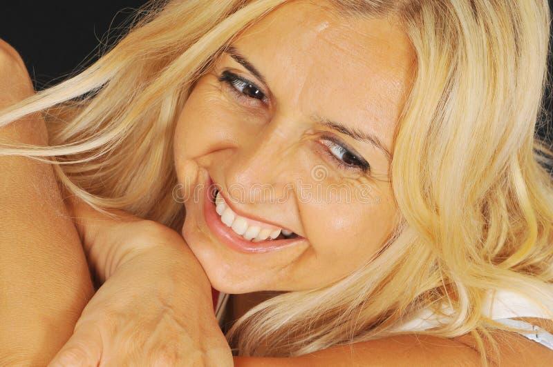 Blonde woman stock image