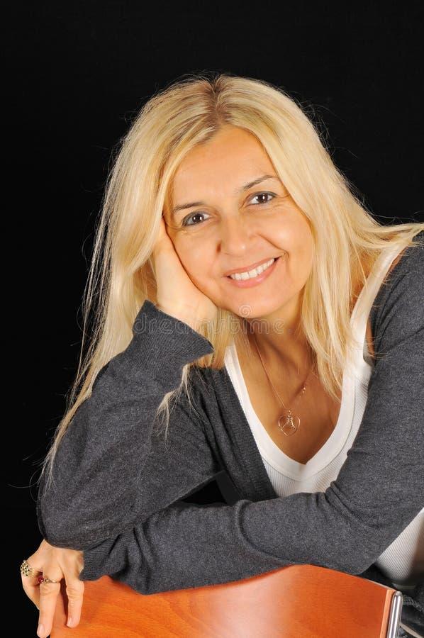Blonde woman royalty free stock photos