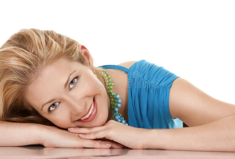 Download Blonde woman stock image. Image of relaxed, pretty, smiling - 27522187
