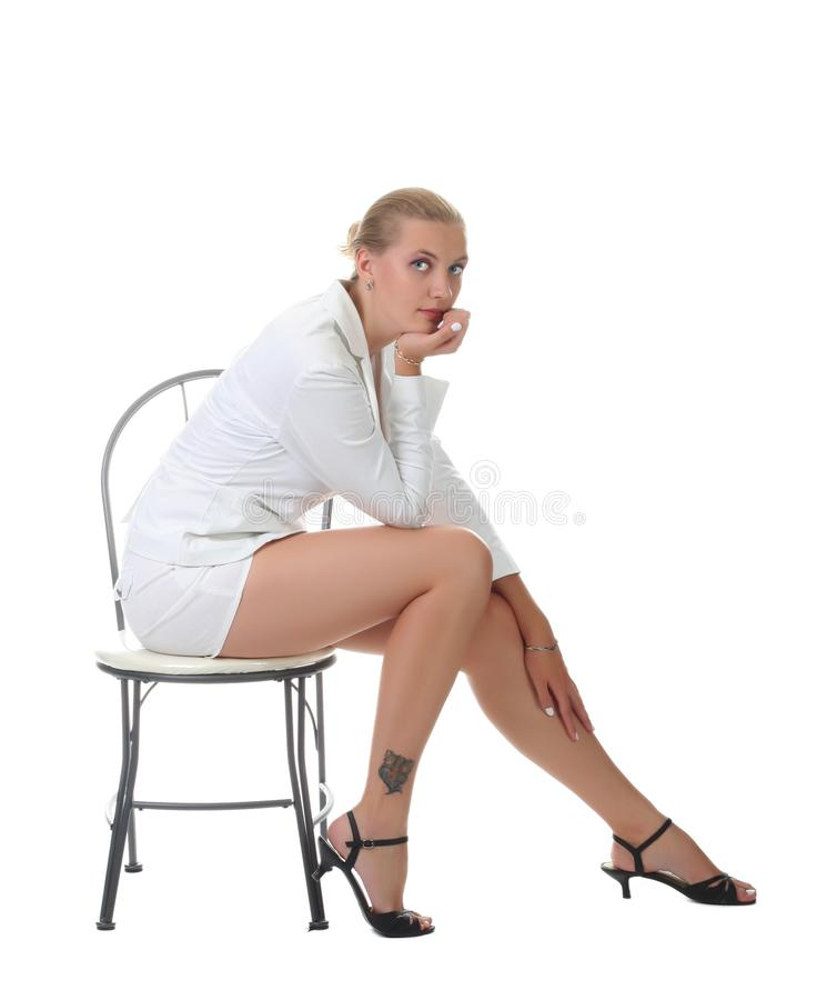 Blonde woman royalty free stock photography