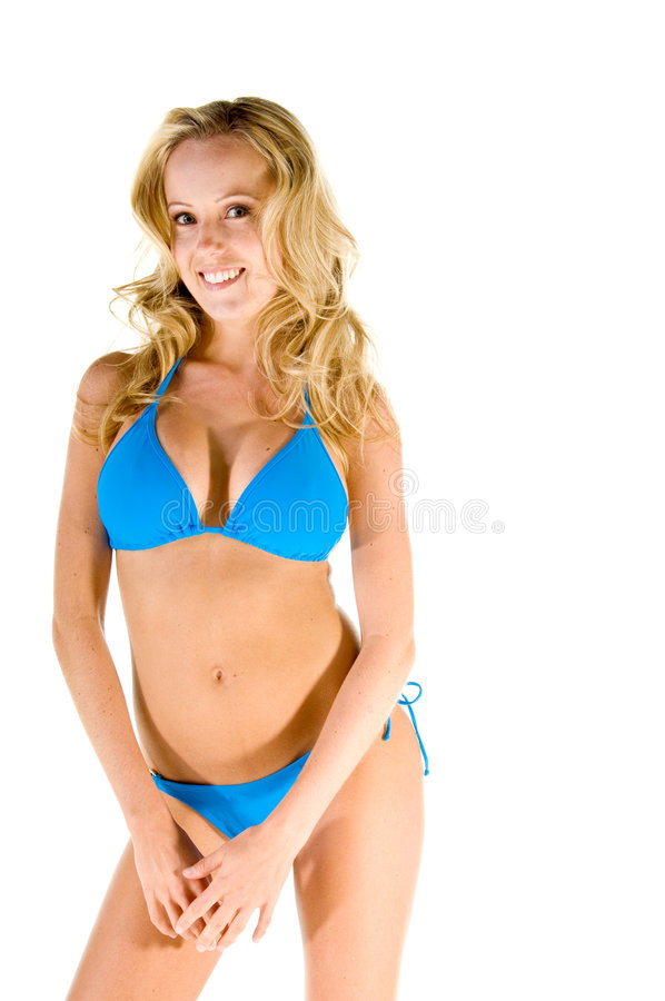 Blonde Blue Bikini
