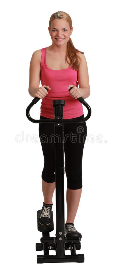 Download Blonde Woman Exercising On A Stepper Stock Image - Image: 28717621