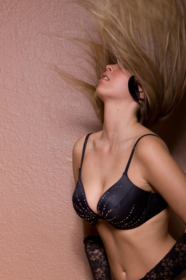 Download Blonde Woman Flipping Her Long Hair Stock Photo - Image: 13546320