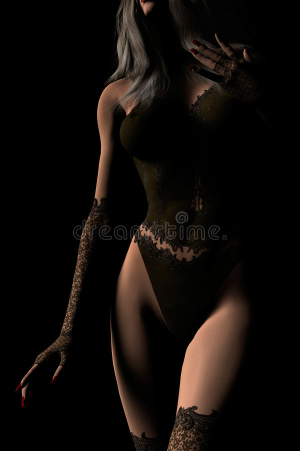 Download Blonde Woman in Lingerie stock illustration. Image of shadows - 6221875