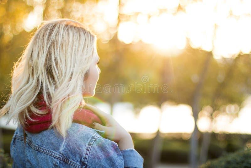 Blonde Woman In Outdoor Portrait Free Public Domain Cc0 Image