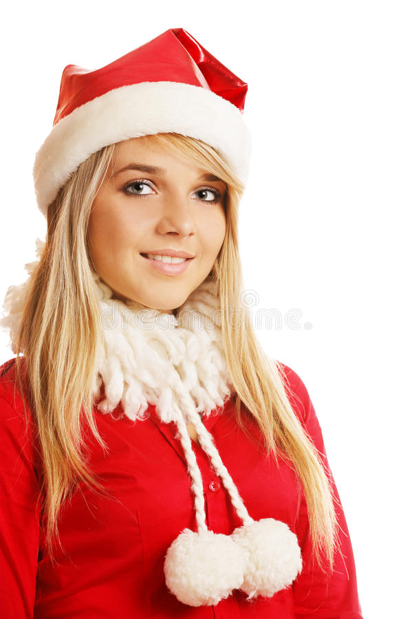 Download Blonde in xmas clothes stock image. Image of claus, fashion - 16328545