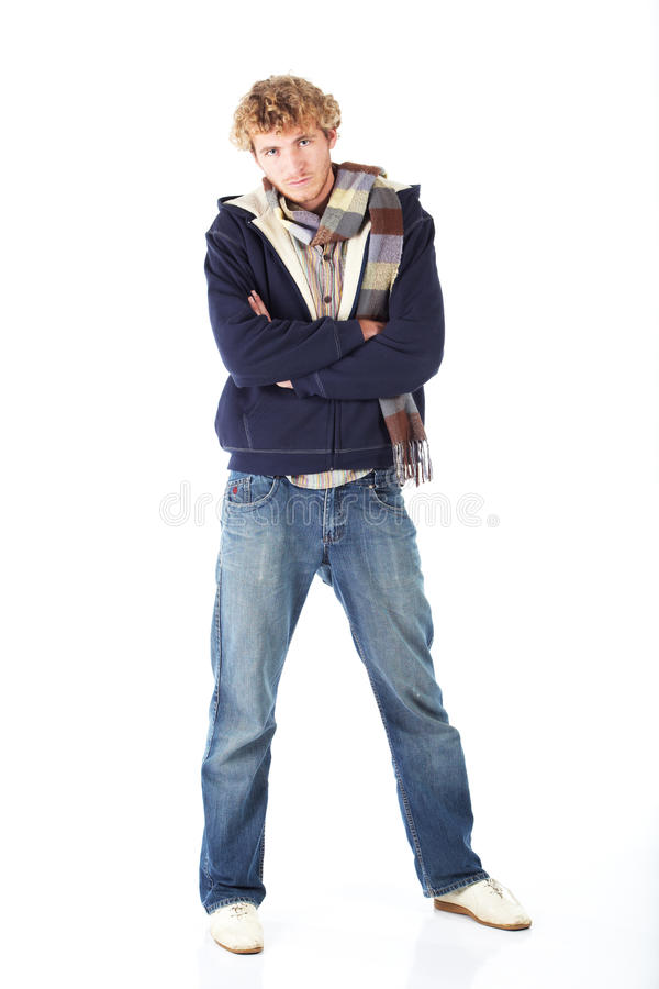 Download Blonde young man stock image. Image of blond, folded - 13329479