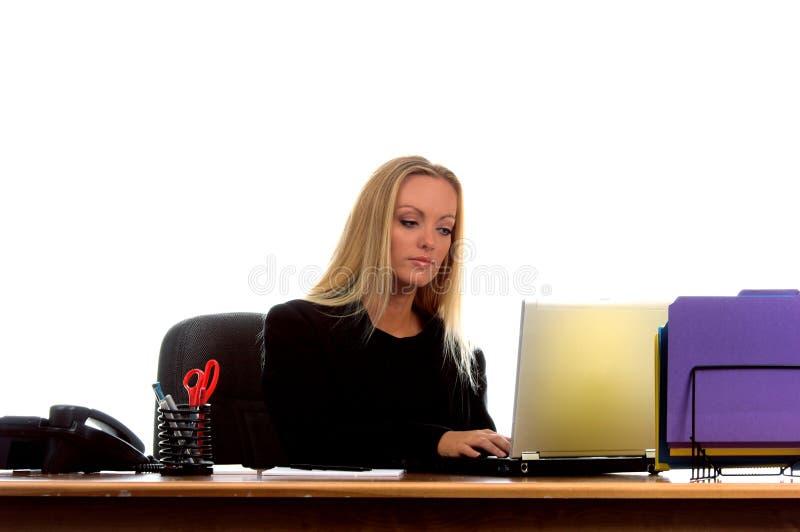 Blonde zaken stock foto