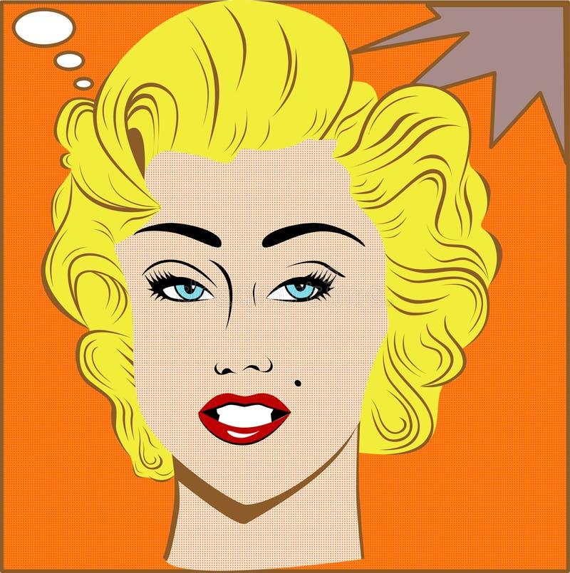 Blondemeisje vector illustratie