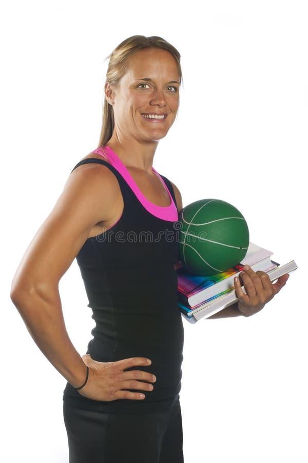Blonder Eignung-Trainer lizenzfreies stockbild