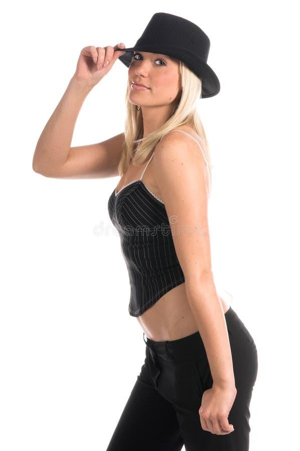 Blonder Gangster stockbild