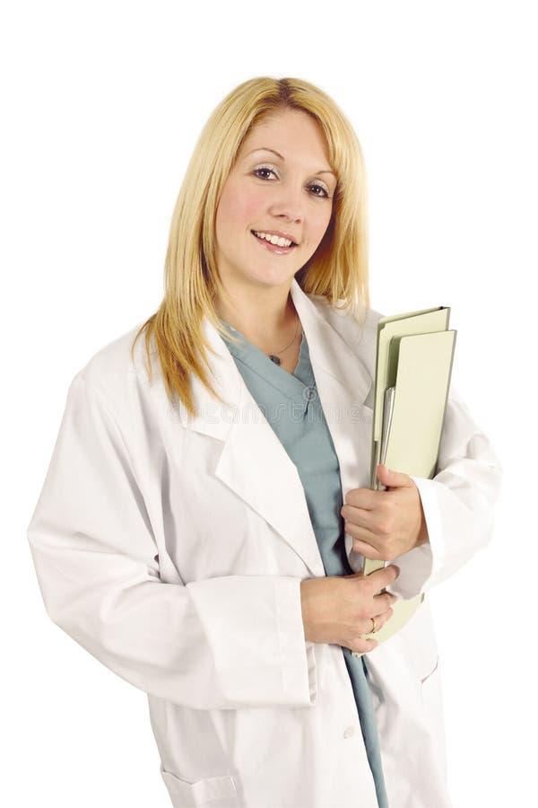 Blonder weiblicher Doktor stockbild