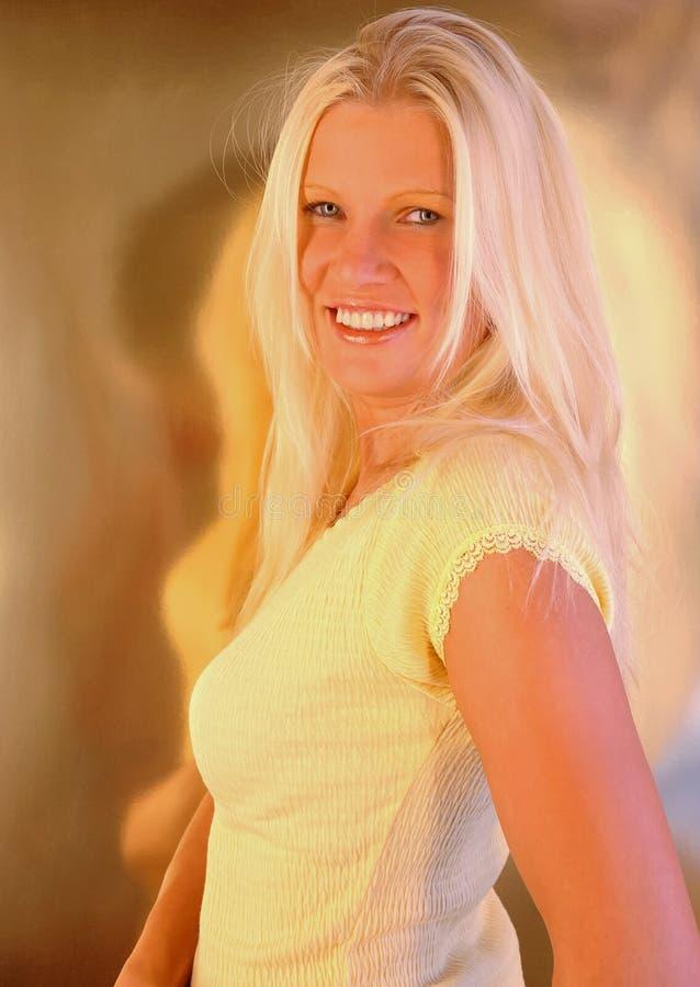 Blonder Zauber stockfotografie