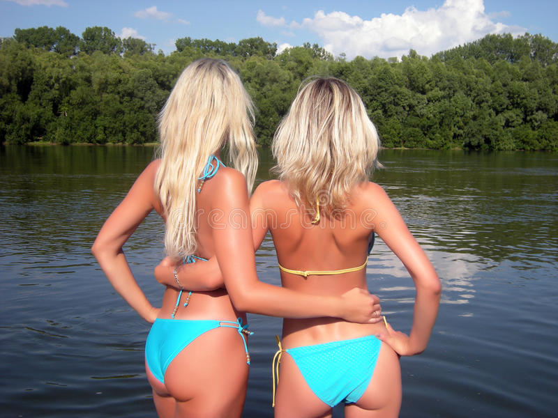 Blondes fotografie stock