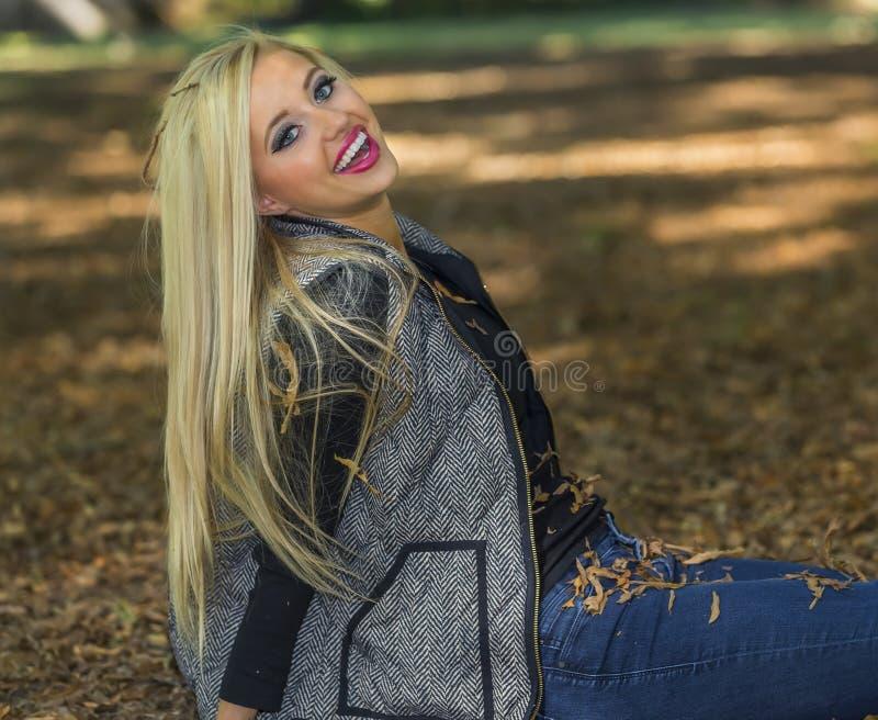Blondes Baumuster stockfoto