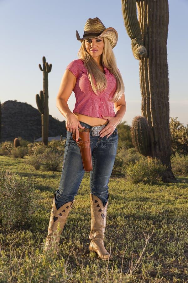 Blondes Cowgirl stockfotografie