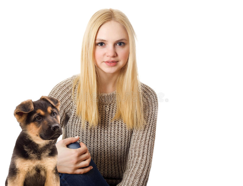 Blondes Jugendlichmädchen stockbilder