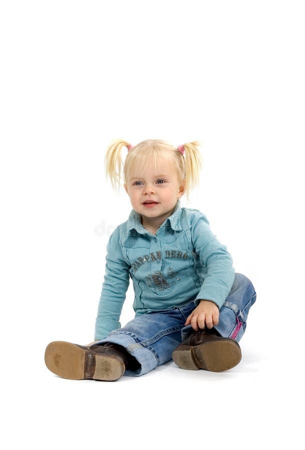 Blondes kleines Mädchen stockbild