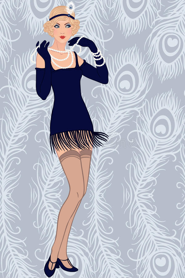 Blondes Mädchen der Prallplatte lizenzfreie abbildung