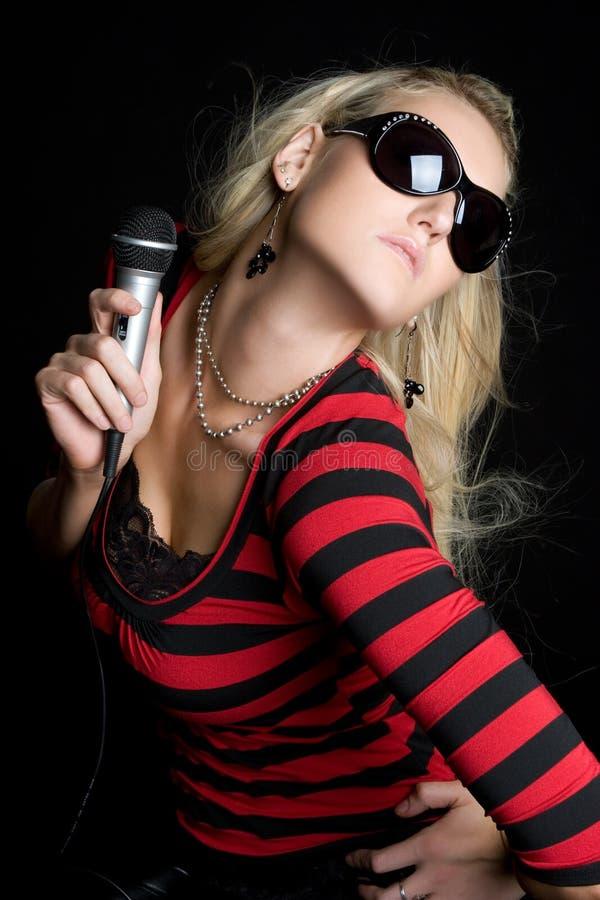 Blondes Musik-Mädchen stockfotos