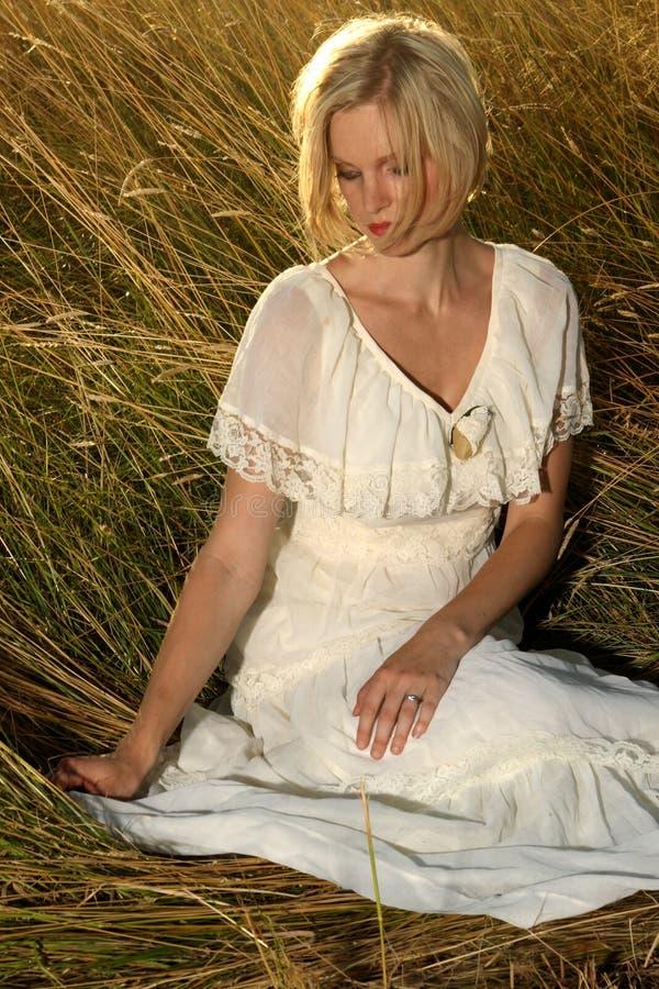 Blondes Portrait stockbilder