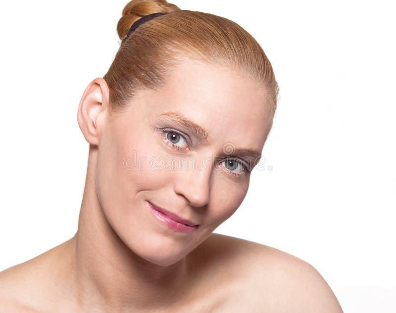 Blondes Schönheitsportrait stockbild