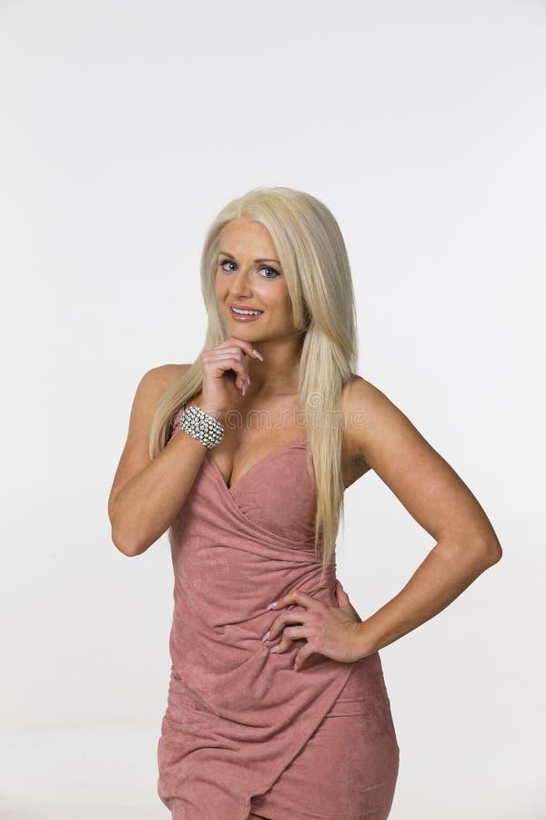 Blondes Studio-Baumuster lizenzfreie stockfotos