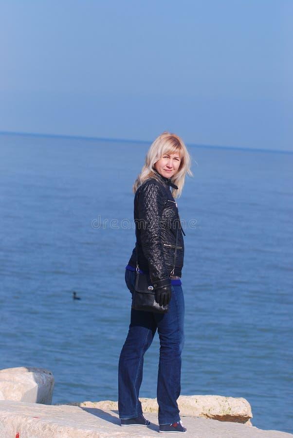 Blondevrouw royalty-vrije stock foto's