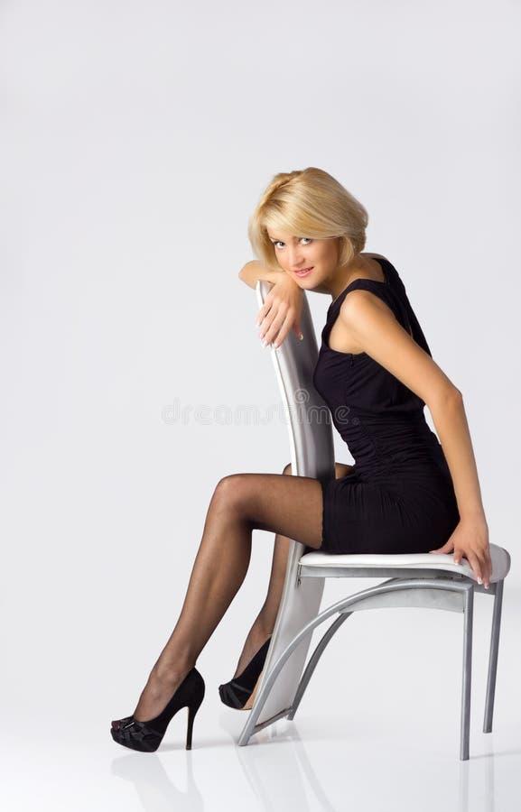 blondie女孩年轻人 库存照片