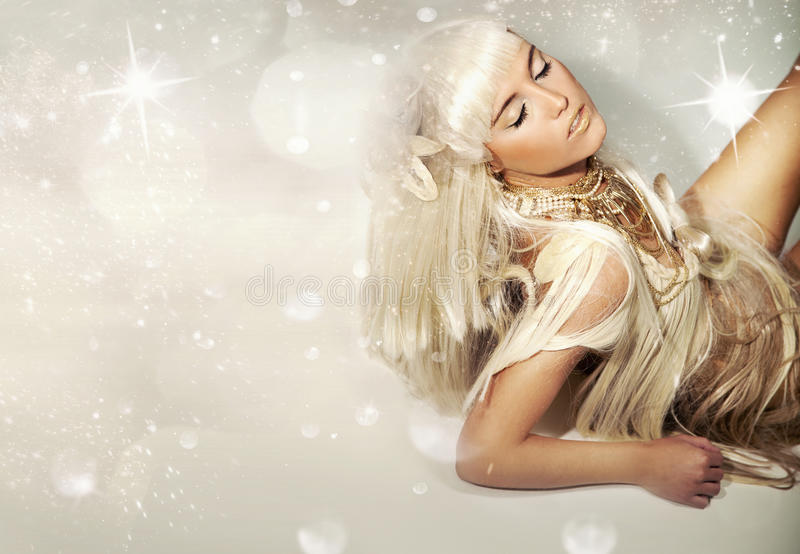 blondie śliczny zdjęcia royalty free